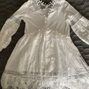 Off white lace tunic or cover up size small
